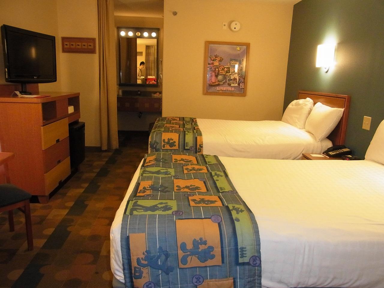 WDW旅行記 25 ポップセンチュリーの部屋について
