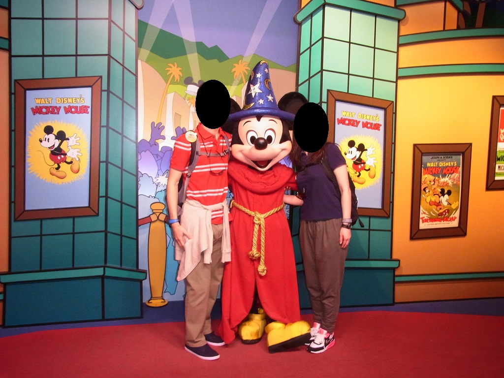 WDW旅行記 48 ハリウッドスタジオでキャラクターグリーティング(ミッキーとミニー)