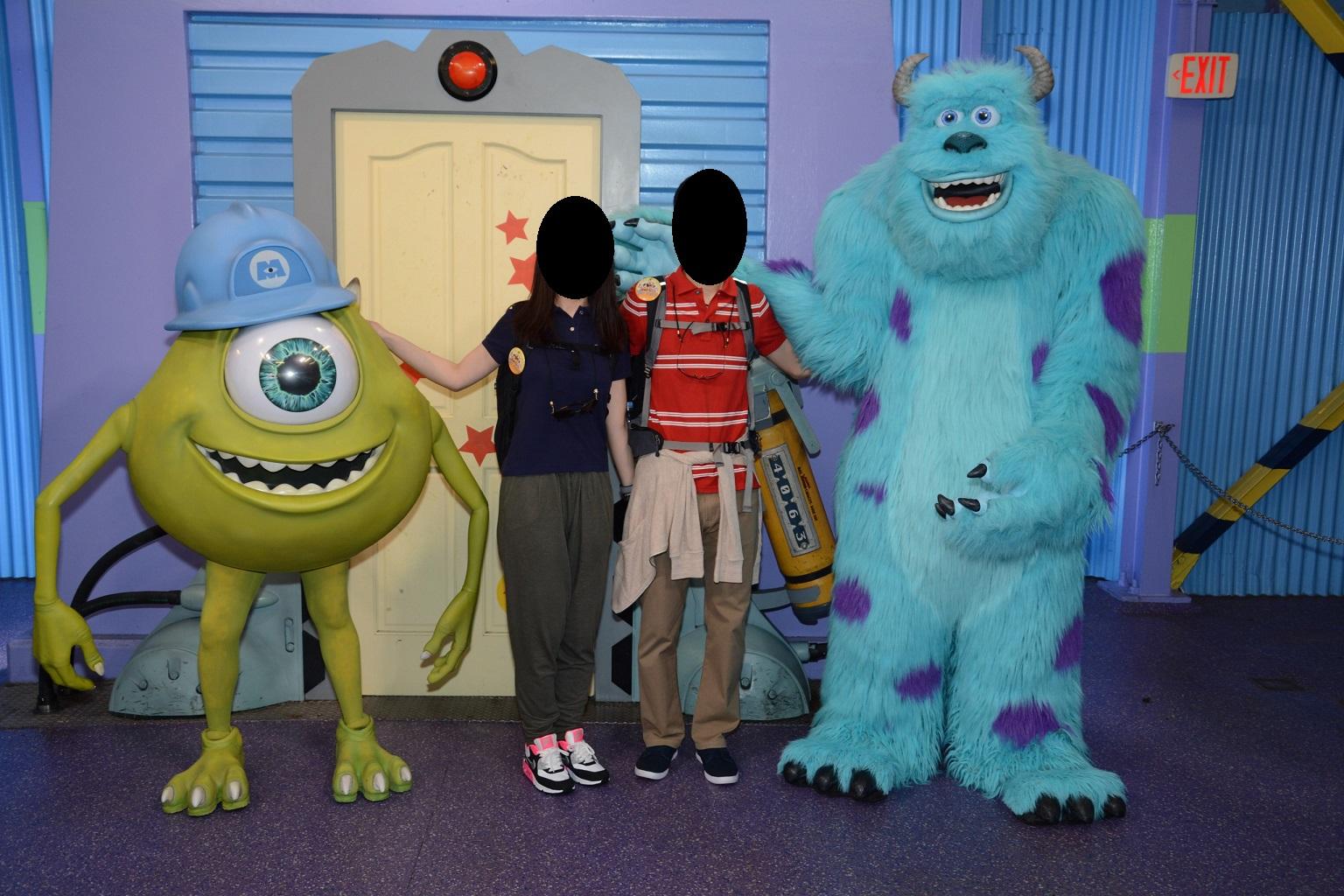 WDW旅行記 49 ハリウッドスタジオでキャラクターグリーティング(マイクとサリー)