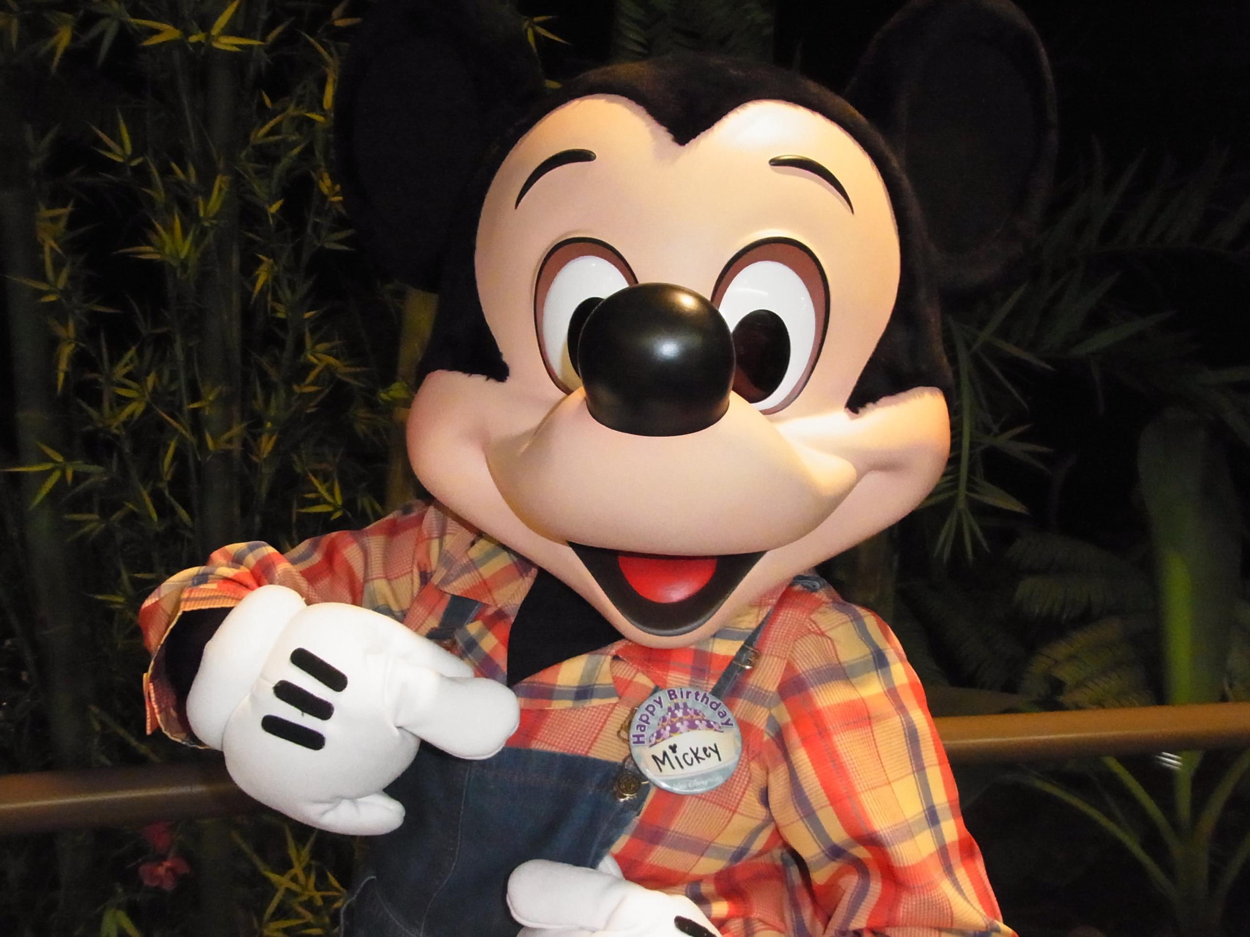 WDW旅行記 72 ガーデングリルで、ミッキーの誕生日をお祝い